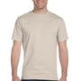 Gildan Mens DryBlend Moisture Wicking Short Sleeve Crewneck T-Shirt - Sand