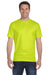 Gildan G800 Mens DryBlend Moisture Wicking Short Sleeve Crewneck T-Shirt Safety Green Front