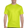 Gildan Mens DryBlend Moisture Wicking Short Sleeve Crewneck T-Shirt - Safety Green