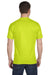 Gildan G800 Mens DryBlend Moisture Wicking Short Sleeve Crewneck T-Shirt Safety Green Back