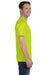 Gildan G800 Mens DryBlend Moisture Wicking Short Sleeve Crewneck T-Shirt Safety Green Side