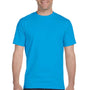 Gildan Mens DryBlend Moisture Wicking Short Sleeve Crewneck T-Shirt - Sapphire Blue