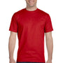 Gildan Mens DryBlend Moisture Wicking Short Sleeve Crewneck T-Shirt - Red