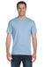 Gildan G800 Mens DryBlend Moisture Wicking Short Sleeve Crewneck T-Shirt Light Blue Front