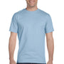 Gildan Mens DryBlend Moisture Wicking Short Sleeve Crewneck T-Shirt - Light Blue
