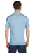 Gildan G800 Mens DryBlend Moisture Wicking Short Sleeve Crewneck T-Shirt Light Blue Back