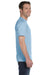 Gildan G800 Mens DryBlend Moisture Wicking Short Sleeve Crewneck T-Shirt Light Blue Side