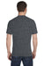 Gildan G800 Mens DryBlend Moisture Wicking Short Sleeve Crewneck T-Shirt Heather Dark Grey Back