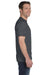 Gildan G800 Mens DryBlend Moisture Wicking Short Sleeve Crewneck T-Shirt Heather Dark Grey Side