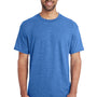 Gildan Mens DryBlend Moisture Wicking Short Sleeve Crewneck T-Shirt - Heather Royal Blue