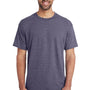 Gildan Mens DryBlend Moisture Wicking Short Sleeve Crewneck T-Shirt - Heather Dark Navy Blue