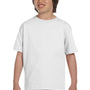 Gildan Youth DryBlend Moisture Wicking Short Sleeve Crewneck T-Shirt - White