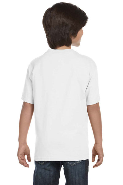 Gildan G800B Youth DryBlend Moisture Wicking Short Sleeve Crewneck T-Shirt White Back