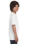 Gildan G800B Youth DryBlend Moisture Wicking Short Sleeve Crewneck T-Shirt White Side