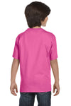 Gildan G800B Youth DryBlend Moisture Wicking Short Sleeve Crewneck T-Shirt Azalea Pink Back