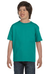 Gildan G800B Youth DryBlend Moisture Wicking Short Sleeve Crewneck T-Shirt Jade Green Front