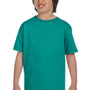 Gildan Youth DryBlend Moisture Wicking Short Sleeve Crewneck T-Shirt - Jade Dome Green