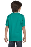 Gildan G800B Youth DryBlend Moisture Wicking Short Sleeve Crewneck T-Shirt Jade Green Back