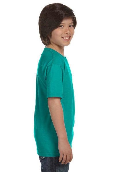 Gildan G800B Youth DryBlend Moisture Wicking Short Sleeve Crewneck T-Shirt Jade Green Side