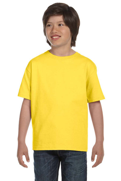 Gildan G800B Youth DryBlend Moisture Wicking Short Sleeve Crewneck T-Shirt Daisy Yellow Front