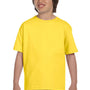 Gildan Youth DryBlend Moisture Wicking Short Sleeve Crewneck T-Shirt - Daisy Yellow
