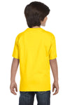 Gildan G800B Youth DryBlend Moisture Wicking Short Sleeve Crewneck T-Shirt Daisy Yellow Back
