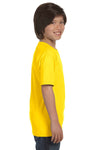 Gildan G800B Youth DryBlend Moisture Wicking Short Sleeve Crewneck T-Shirt Daisy Yellow Side