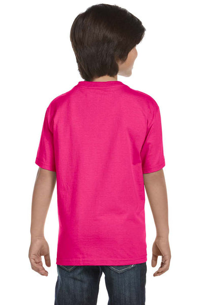 Gildan G800B Youth DryBlend Moisture Wicking Short Sleeve Crewneck T-Shirt Heliconia Pink Back
