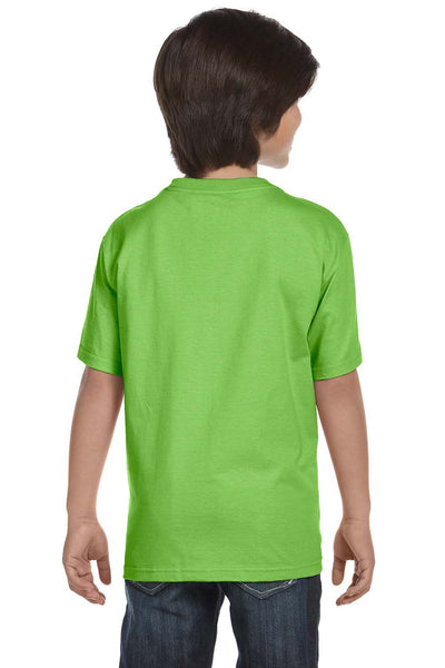 Gildan G800B Youth DryBlend Moisture Wicking Short Sleeve Crewneck T-Shirt Lime Green Back