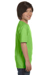 Gildan G800B Youth DryBlend Moisture Wicking Short Sleeve Crewneck T-Shirt Lime Green Side