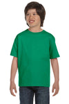Gildan G800B Youth DryBlend Moisture Wicking Short Sleeve Crewneck T-Shirt Kelly Green Front