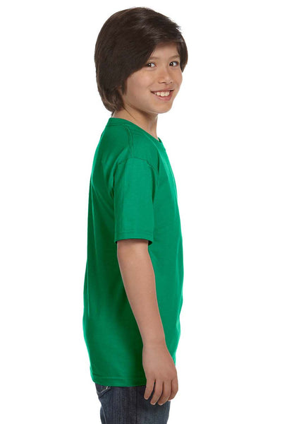 Gildan G800B Youth DryBlend Moisture Wicking Short Sleeve Crewneck T-Shirt Kelly Green Side