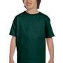 Gildan Youth DryBlend Moisture Wicking Short Sleeve Crewneck T-Shirt - Forest Green