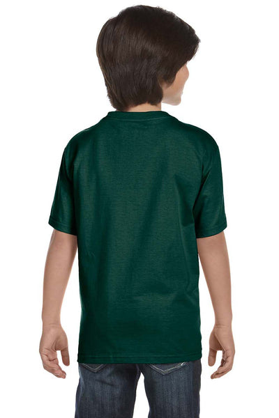 Gildan G800B Youth DryBlend Moisture Wicking Short Sleeve Crewneck T-Shirt Forest Green Back