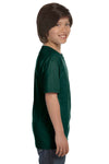 Gildan G800B Youth DryBlend Moisture Wicking Short Sleeve Crewneck T-Shirt Forest Green Side
