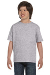 Gildan G800B Youth DryBlend Moisture Wicking Short Sleeve Crewneck T-Shirt Sport Grey Front