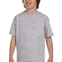 Gildan Youth DryBlend Moisture Wicking Short Sleeve Crewneck T-Shirt - Sport Grey