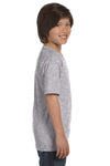Gildan G800B Youth DryBlend Moisture Wicking Short Sleeve Crewneck T-Shirt Sport Grey Side