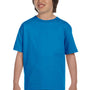 Gildan Youth DryBlend Moisture Wicking Short Sleeve Crewneck T-Shirt - Sapphire Blue