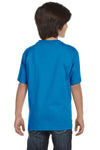 Gildan G800B Youth DryBlend Moisture Wicking Short Sleeve Crewneck T-Shirt Sapphire Blue Back