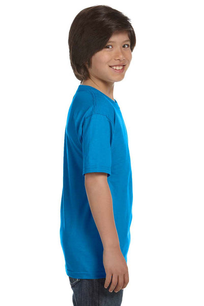 Gildan G800B Youth DryBlend Moisture Wicking Short Sleeve Crewneck T-Shirt Sapphire Blue Side