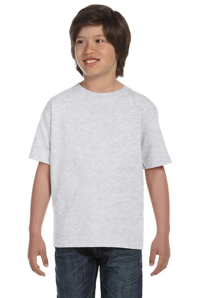 Gildan G800B Youth DryBlend Moisture Wicking Short Sleeve Crewneck T-Shirt Ash Grey Front