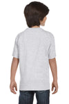Gildan G800B Youth DryBlend Moisture Wicking Short Sleeve Crewneck T-Shirt Ash Grey Back