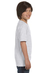Gildan G800B Youth DryBlend Moisture Wicking Short Sleeve Crewneck T-Shirt Ash Grey Side