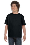 Gildan G800B Youth DryBlend Moisture Wicking Short Sleeve Crewneck T-Shirt Black Front