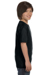 Gildan G800B Youth DryBlend Moisture Wicking Short Sleeve Crewneck T-Shirt Black Side