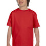 Gildan Youth DryBlend Moisture Wicking Short Sleeve Crewneck T-Shirt - Red