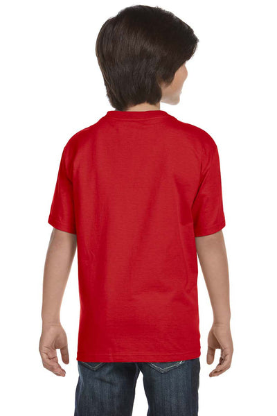 Gildan G800B Youth DryBlend Moisture Wicking Short Sleeve Crewneck T-Shirt Red Back