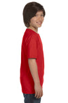 Gildan G800B Youth DryBlend Moisture Wicking Short Sleeve Crewneck T-Shirt Red Side