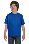 Gildan G800B Youth DryBlend Moisture Wicking Short Sleeve Crewneck T-Shirt Royal Blue Front
